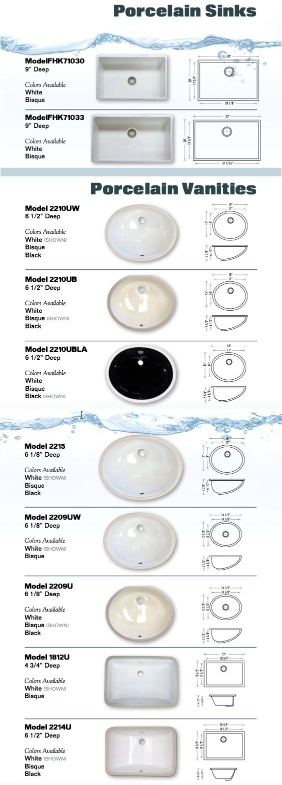 Porcelain Sinks