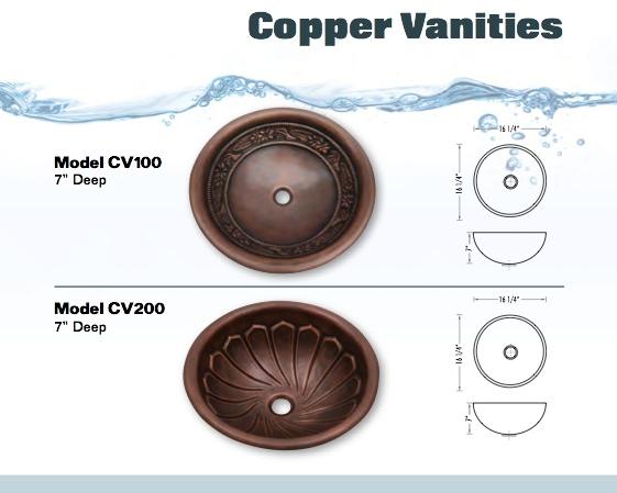 copper vanities