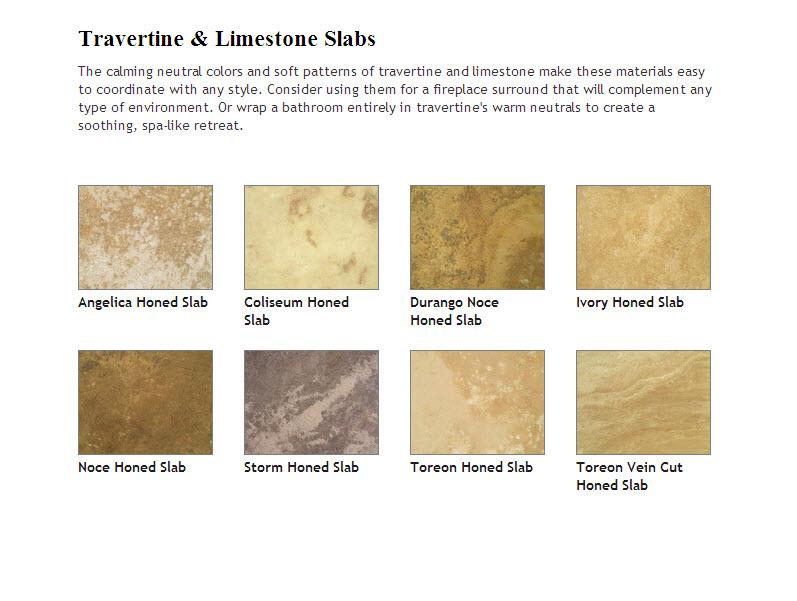 cTravertine and Limestone