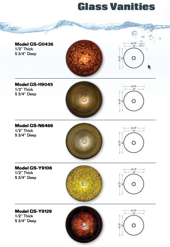 vessel bowls colored glass
