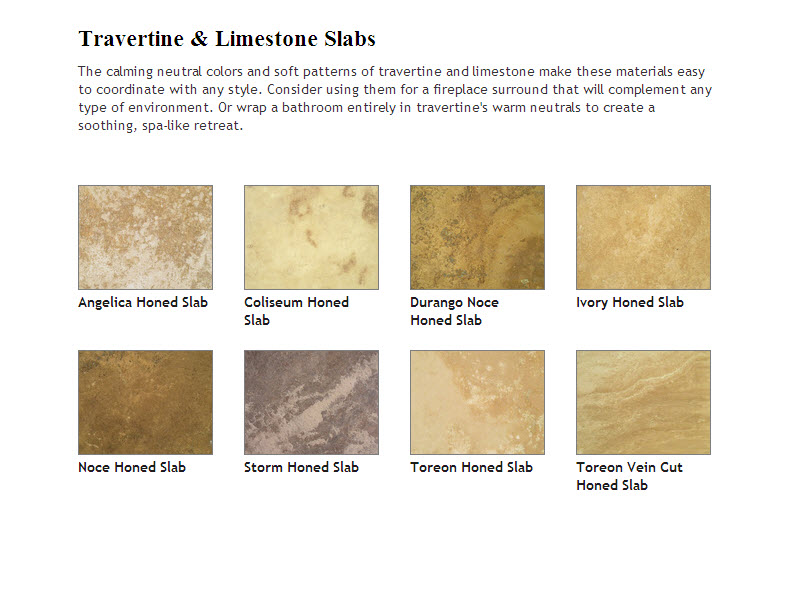 Travertine and Limestone